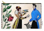 The Betrothal-folk Art Carry-all Pouch