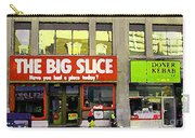 The Big Slice Pizzeria Downtown Toronto Restaurants Doner Kebob House Street Scene Painting Cspandau Carry-all Pouch