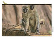 The Black-faced Vervet Monkey Carry-all Pouch