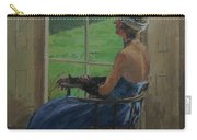 The Blue Dress, 2009 Oil On Canvas Carry-all Pouch