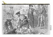 The Boston Massacre, March 5th 1770, Engraved By A. Bollett Engraving B&w Photo Carry-all Pouch