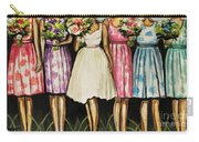 The Bride And Her Bridesmaids Carry-all Pouch