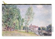 The Builder's Yard At Matrat Moret-sur-loing Carry-all Pouch by Alfred Sisley