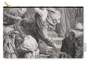 The Buyers And Sellers Driven Out Of The Temple Carry-all Pouch by Gustave Dore