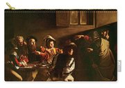 The Calling Of St Matthew Carry-all Pouch by Michelangelo Merisi o Amerighi da Caravaggio