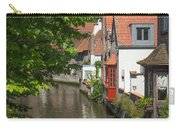 The Canal In The Downtown Of Bruges  Carry-all Pouch