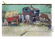 The Caravans   Gypsy Encampment Near Arles Carry-all Pouch by Vincent Van Gogh