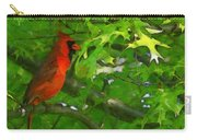 The Cardinal 2 Painterly Carry-all Pouch