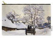The Carriage- The Road To Honfleur Under Snow Carry-all Pouch