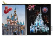 The Castles Of Disney 2 Panel Vertical Carry-all Pouch