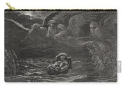 The Child Moses On The Nile Carry-all Pouch by Gustave Dore