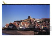The Church Of St Mary's And Whitby Abbey North Yorkshire England Carry-all Pouch