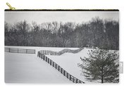 The Color Of Winter - Bw Carry-all Pouch