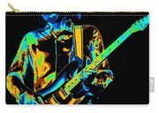 The Colorful Sound Of Mick Playing Guitar Carry-all Pouch