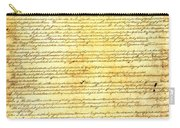 The Constitution Of The United States Of America Carry-all Pouch by Design Turnpike