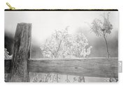 The Country Fence In Black And White Carry-all Pouch