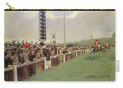 The Course At Longchamps Carry-all Pouch by Jean Beraud