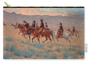 The Cowpunchers Carry-all Pouch by Frederic Remington