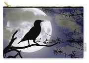 The Crow And Moon Carry-all Pouch