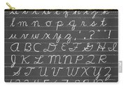 The Cursive Alphabet Carry-all Pouch