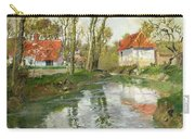 The Dairy At Quimperle Carry-all Pouch by Fritz Thaulow