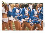 The Dallas Cowboys Cheerleaders Carry-all Pouch by Donna Wilson