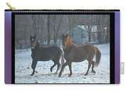The Dancing Paso Fino Stallions Carry-all Pouch