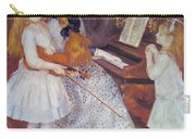 The Daughters Of Catulle Mendes Carry-all Pouch by Pierre Auguste Renoir