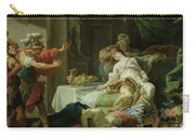The Death Of Cleopatra, 1755 Oil On Canvas Carry-all Pouch