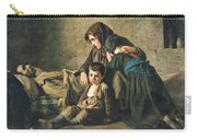 The Death Of The Pauper Oil On Canvas Carry-all Pouch