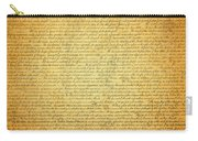 The Declaration Of Independence - America's Founding Document Carry-all Pouch by Design Turnpike
