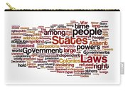 The Declaration Of Independence Carry-all Pouch by Florian Rodarte