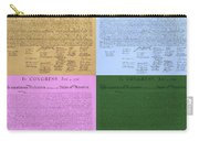 The Declaration Of Independence In Colors Carry-all Pouch by Rob Hans