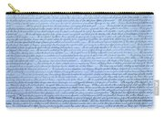 The Declaration Of Independence In Cyan Carry-all Pouch