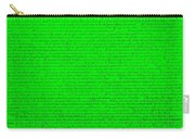 The Declaration Of Independence In Green Carry-all Pouch