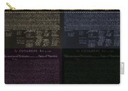 The Declaration Of Independence In Negative Colors Carry-all Pouch by Rob Hans
