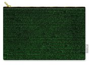 The Declaration Of Independence In Negative Green Carry-all Pouch by Rob Hans