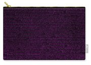 The Declaration Of Independence In Negative Purple Carry-all Pouch