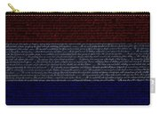 The Declaration Of Independence In Negative R W B 1 Carry-all Pouch