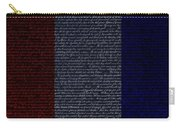 The Declaration Of Independence In Negative R W B Carry-all Pouch