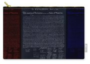 The Declaration Of Independence In Negative Red White And Blue Carry-all Pouch