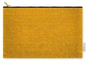 The Declaration Of Independence In Orange Carry-all Pouch