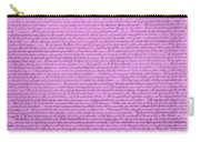 The Declaration Of Independence In Pink Carry-all Pouch