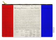 The Declaration Of Independence In Red White And Blue Carry-all Pouch by Rob Hans