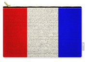 The Declaration Of Independence In Red White Blue Carry-all Pouch by Rob Hans