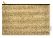 The Declaration Of Independence In Sepia Carry-all Pouch