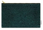 The Declaration Of Independence In Turquoise Carry-all Pouch