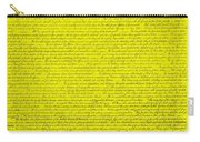 The Declaration Of Independence In Yellow Carry-all Pouch