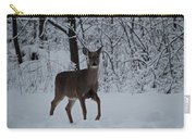 The Deer In The Snow Carry-all Pouch