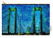 The Delaware Memorial Bridge Carry-all Pouch by Angelina Vick